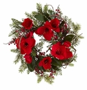 24� Amaryllis Wreath