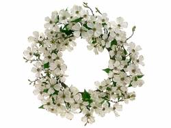 "24"" Artificial Dogwood Flower Wreath - Set of 2"