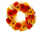 "24"" Artificial Silk Gerbera Daisy Wreath  - Set of 2"
