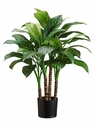 "24"" Artificial Xanthosoma Plant with 36 Silk Leaves - Set of 4"