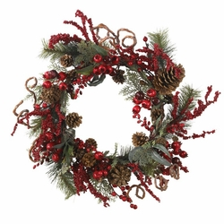 24� Assorted Berry Wreath