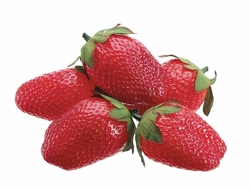 "24 Bags of 2.5"" Soft Artificial Strawberries (5 ea per bag)"