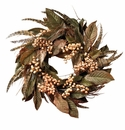 """24"""" Feather and Berry Wreath"""