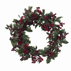 "24"" Holly Berry Wreath"