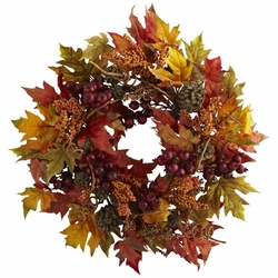"24"" Maple and Berry Wreath"