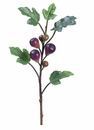 """25"""" Artificial Fig Branch with Figs - Set of 12"""