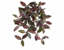 "25"" Artificial Round Laurel Hanging Bush with 99 Leaves & Berries - Set of 6"