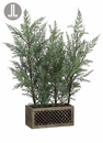"26"" Artificial Juniper Tree Plant in Wood Pot - Set of 2"