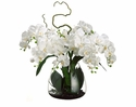 "26"" Artificial Phalaenopsis Orchid in Glass Vase"