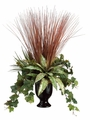 26 inch Silk Plant Arrangement in Ceramic Vase