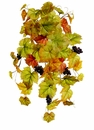"27"" Artificial Grape Ivy Hanging Bush with 10 vines and Grapes"