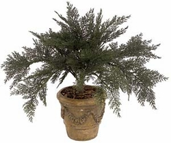 "27"" Artificial Outdoor Spreading Juniper Plant (pot not included)-Set of 6"