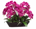 "27"" Artificial Silk Phalaenopsis Orchids in Oval Bamboo Container"