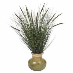 27� Grass w/Mini Cattails Silk Plant