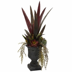 27� Mixed Succulent w/Urn