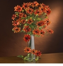"28.5"" Cosmo Silk Flower Stems (Set of 12) - Orange"