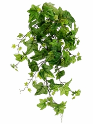 "28"" Artificial Ivy Hanging Bush with 105 Leaves Two Tone - Set of 12"