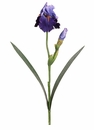 "28"" Artificial Silk Bearded Iris Spray Stem - Set of 12 (shown in Purple/Blue)"