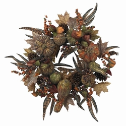"28"" Autumn Pumpkin Wreath"