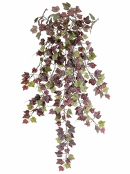 """29"""" Artificial  King Mini Grape Ivy Hanging Bush with 300 Leaves - Set of 12"""