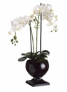 "29"" Artificial Phalaenopsis Orchid Plant in Metal Urn"