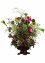 "29"" Artificial Silk  Protea Flowers, Daisy's and Ranunculus Arragment in Decorative Bowl"