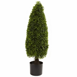 3� Boxwood Tower Topiary UV Resistant  (Indoor/Outdoor)