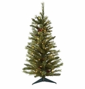 3� Christmas Tree w/Pine Cones & Clear Lights