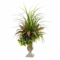 3� Mixed Grass, Dracena, Sage Ivy & Fern w/Planter