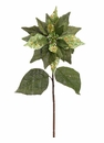 "30"" Artficial Glittered Burlap Poinsettia Spray - Set of 12 (Shown in Green)"