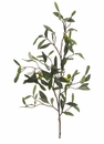 "30"" Artficial Olive Spray 5 branches with 90 Leaves and Green Olives - Set of 6"