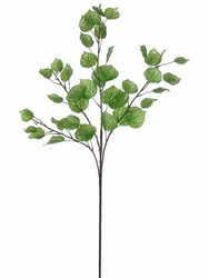 "31.5"" Silk Aspen Leaf Spray Stem - Set of 12"