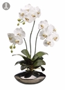 "31"" Artficial Silk Phalaenopsis Orchid Plant in Ceramic Container"