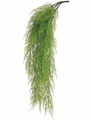 "33"" Artificial Asparagus Fern Hanging Bushes - Set of 12"