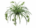 """34"""" Artificial Spider Plant Bush with 80 Fronds - Set of 12"""