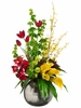 "34"" Artificial Tulip Calla Lillies & Bells of Ireland Arrangement"