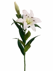 "35"" Artificial Silk Stargazer Lily Spray -Set of 12 (Shown in White)"