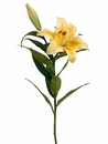 "35"" Artificial Silk Stargazer Lily Spray -Set of 12"