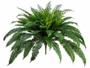 "35"" New Boston Silk Fern Bush Plants - non potted - Set of 2"
