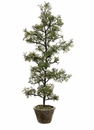 "36"" Artficial Iced Pine Tree in Cement Pot"