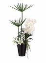 "36"" Artificial Cypress/Vanda Arrangement in Ceramic Vase"