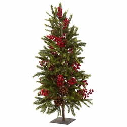 36� Pine & Berry Christmas Tree