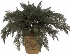 "37"" Artificial Outdoor Spreading Juniper Plant (pot not included)- Set of 4"