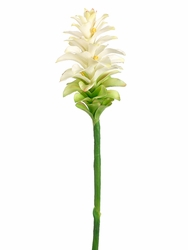 "39"" Artificial Ginger Flower Spray Stem (shown in cream) - Set of 12"