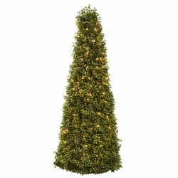 39� Boxwood Cone with Lights