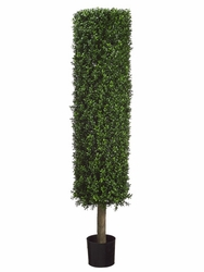 4.5' Round Artificial Boxwood Topiary in Plastic Pot