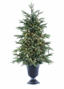 4' Artifical New England Pine Tree x 241 with 100 Clear Lights in Urn