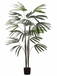 4' Artificial Raphis Palm Trees - Set of 2
