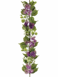 4' Artificial Silk Lilac Garland Flowers - Set of 2