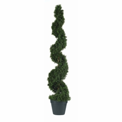 4' Cedar Spiral Silk Tree (In-door/Out-door)